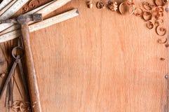 Samenstelling van grundgy oude handhulpmiddelen Stock Fotografie
