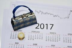 Samenstelling van het maken van jaarplannen Stock Afbeeldingen