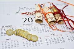 Samenstelling van het maken van jaarplannen Royalty-vrije Stock Afbeelding