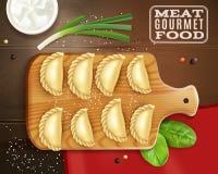 Samenstelling van het vlees de Gastronomische Voedsel royalty-vrije illustratie