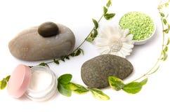 Samenstelling van hygiëne en wellnesstoebehoren Stock Fotografie