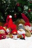 Samenstelling van Kerstmisbeeldjes Stock Afbeeldingen