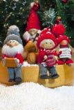 Samenstelling van Kerstmisbeeldjes Stock Foto's
