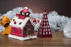 Samenstelling van Kerstmismateriaal Stock Foto