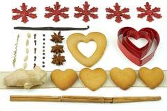 Samenstelling van koekjes en kruiden Royalty-vrije Stock Foto
