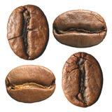Samenstelling van koffiebonen Stock Afbeeldingen