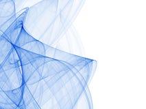 Samenstelling van lijnen in blauw Royalty-vrije Stock Foto