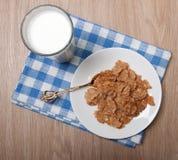 Samenstelling van melk en troepen Stock Afbeelding