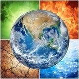 Samenstelling van natuurlijke elementen en Aarde royalty-vrije illustratie