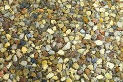 Samenstelling van natuurlijke materialen: de stenen liggen met elkaar stock fotografie