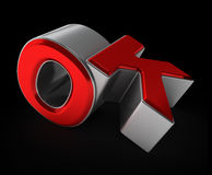 Samenstelling van o.k. brieven 3D Illustratie Royalty-vrije Stock Fotografie