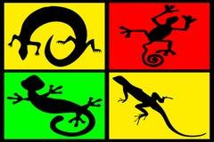 Samenstelling van reptielen royalty-vrije illustratie