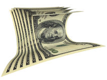 Samenstelling van verscheidene dollarsbankbiljetten Stock Afbeelding