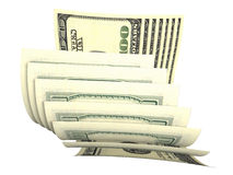 Samenstelling van verscheidene dollarsbankbiljetten Royalty-vrije Stock Afbeelding