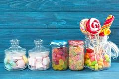 Samenstelling van verschillend suikergoed stock fotografie