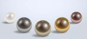 Samenstelling van verschillende metaalballen vector illustratie