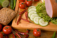 Samenstelling van voedsel Stock Foto's