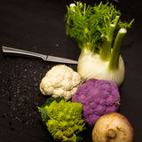 Samenstelling van voedselingrediënten Royalty-vrije Stock Fotografie