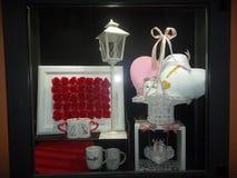 Samenstelling van voorwerpen die liefde vertegenwoordigt Royalty-vrije Stock Afbeeldingen