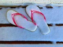 samenstelling van Wipschakelaars met sneeuw worden behandeld die Ideaal beeld voor toerisme stock foto's