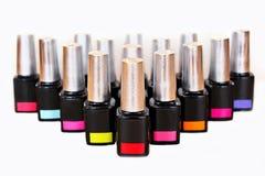 samenstellings producten Grote selectie van nagellak royalty-vrije stock foto