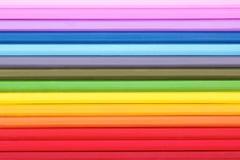 Samenvatting backdround van multicolored potloden Stock Afbeeldingen