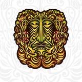 Samenvatting backgroud met masker of gezicht met patroon van bloem Stock Foto's