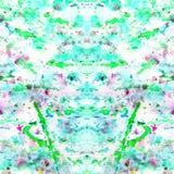 Samenvatting bespat die en splotches van kleurrijke groen wordt geploeterd royalty-vrije stock afbeelding