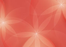 Samenvatting Bloemen op Salmon Pink Background stock illustratie