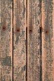 Samenvatting de achtergrond van de Textuur - hout, klinknagels, pellende verf en n stock foto
