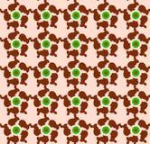 Samenvatting, die patroon met fractal draaien, op een roze backg herhalen vector illustratie