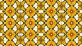 samenvatting geanimeerde veranderende van het caleidoscoopmozaïek video gele en oranje kleuren als achtergrond stock footage