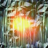 Samenvatting gebarsten achtergrond met stralen en het gloeien licht stock illustratie