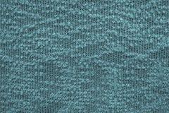 Samenvatting gebreide textuur van donkerblauwe groene kleur Royalty-vrije Stock Afbeelding