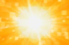 Samenvatting geel met vierkante achtergrond Royalty-vrije Stock Afbeelding