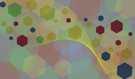 Samenvatting gekleurde achtergrond Stock Afbeeldingen