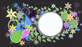 Samenvatting gekleurde achtergrond met bloemen Royalty-vrije Stock Afbeelding