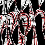 Samenvatting gekleurde achtergrond met golvende elementen stock foto