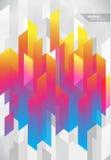 Samenvatting gekleurde achtergrond met verschillende strepen Royalty-vrije Stock Foto's