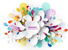 Samenvatting gekleurde achtergrond met verschillende vormen Stock Fotografie