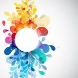 Samenvatting gekleurde bloemachtergrond Royalty-vrije Stock Foto's