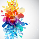 Samenvatting gekleurde bloemachtergrond Stock Afbeelding