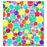 Samenvatting gekleurde cirkels Royalty-vrije Stock Afbeeldingen