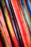 Samenvatting gekleurde doek Royalty-vrije Stock Afbeeldingen