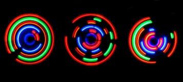 Samenvatting gekleurde lichte cirkels Stock Foto