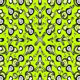 Samenvatting gekleurde voorwerpen op een groene vectorillustratie als achtergrond Stock Foto