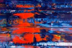 Samenvatting geschilderd canvas Olieverven op een palet Stock Foto's