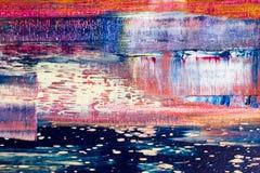 Samenvatting geschilderd canvas Olieverven op een palet Royalty-vrije Stock Fotografie