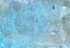 Samenvatting geschilderde achtergrond in blauw Royalty-vrije Stock Afbeelding