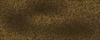 Samenvatting gestippelde achtergrond met radiaal geel halftone patroon Het malplaatje van de dekkingslay-out, vectorillustratie stock illustratie